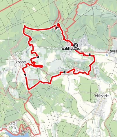 Map / Rock trail, Felsenweg