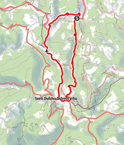 Karte / Heiligengeistklamm (Variante des Kleeblattwanderweg Nr. 1)