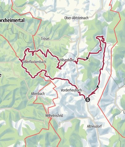 Karte / Wanderung im Eiterbachtal