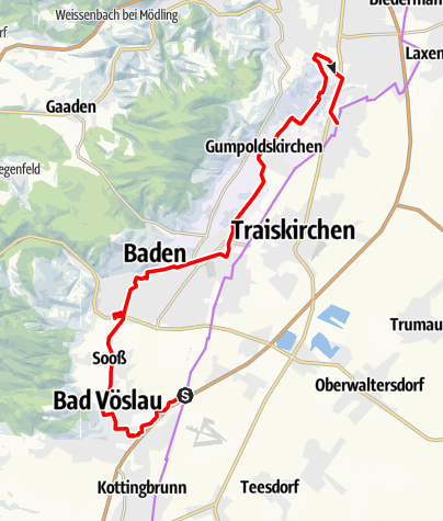 Map / Weingartenradweg