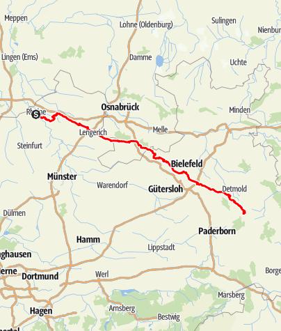 Kaart / Op de Hermannshöhen: De Hermannsweg