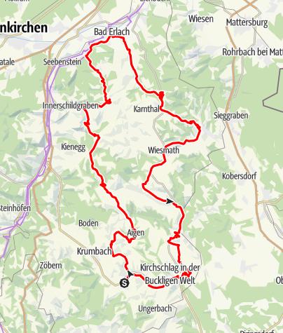 Mapa / E-Bike-Tagestour durch die Bucklige Welt