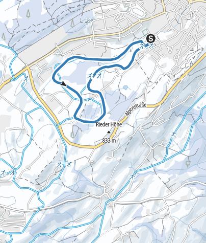 Karte / Lindenberg Hansenweiher-Loipe
