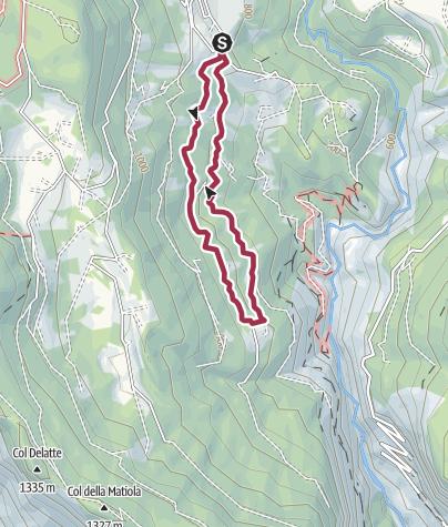 Kaart / Footpath Pian di Mela
