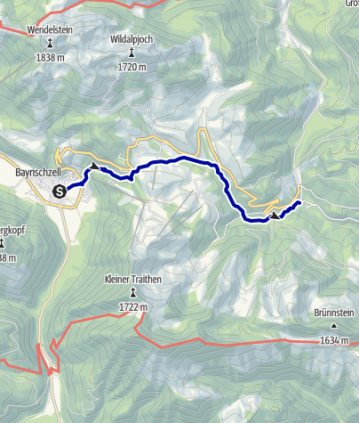 Karte / Wasserfälle am Tatzelwurm