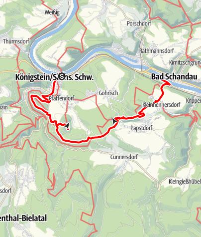 Mapa / Die linkselbischen Steine