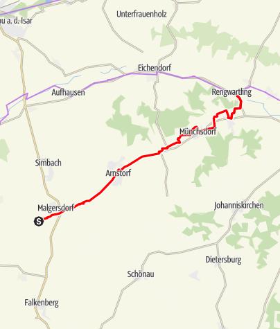 Karte / Kollbach-Radweg