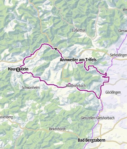 Karte / Die Burgentour