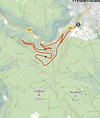 Karte / Nordic Walking Freudenstadt - Rot