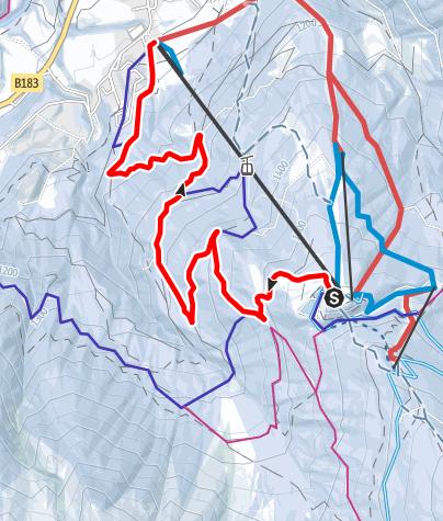 Karte / Rodelbahn Mieders