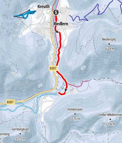 Karte /  Loipe Kreuth - Wildbad Kreuth