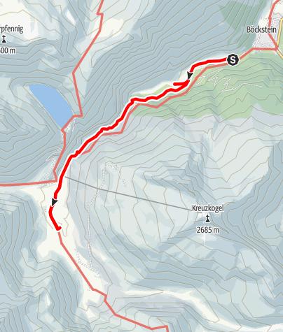 Karte / Auf dem Alten Naßfelder Weg