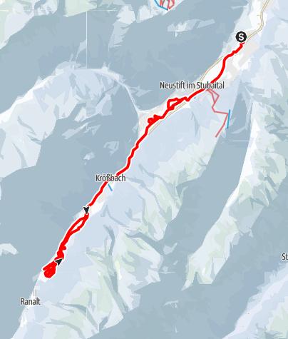 Karte / Neustift - Talloipe