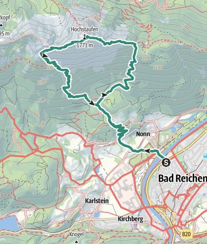 Karte / Staufen Bergtour