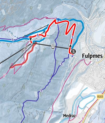 Mapa / Nachtrodelbahn in der Schlick2000