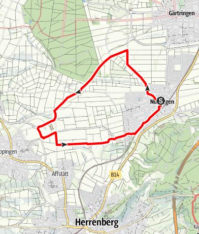 Karte / Nufringer Panoramatour