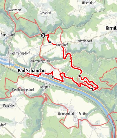 Karte / In den Schrammsteinen