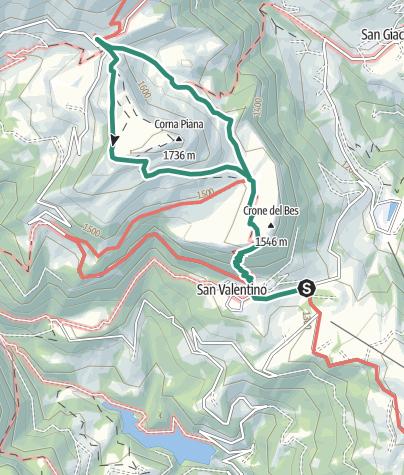 Cartina / Riserva Botanica Bes – Corna Piana