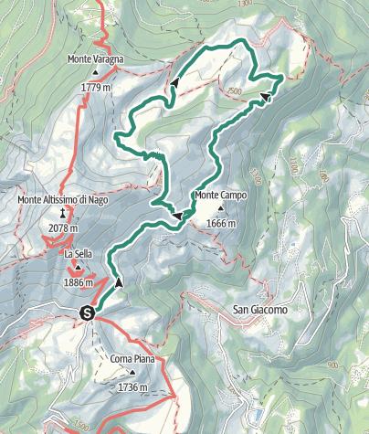 """Karte / Ausflug in das """"Val del Parol"""""""