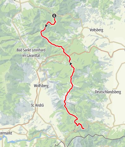 Karte / Koralm Kristall Trail