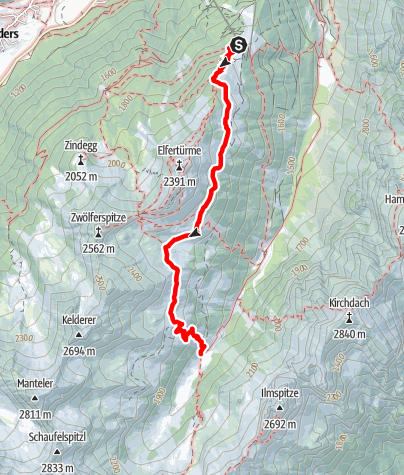 Mapa / Elfer Bergstation - Panoramaweg - Karalm