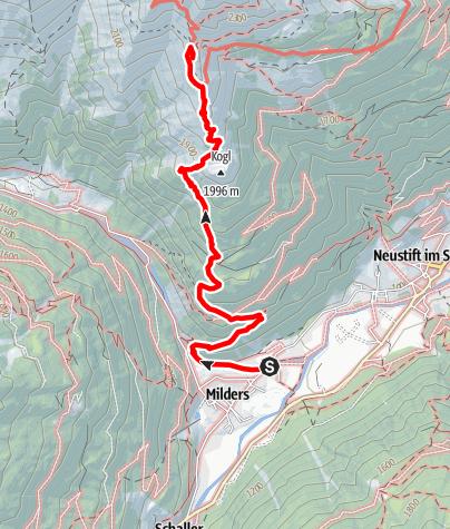 Karte / Milders -Starkenburger Hütte