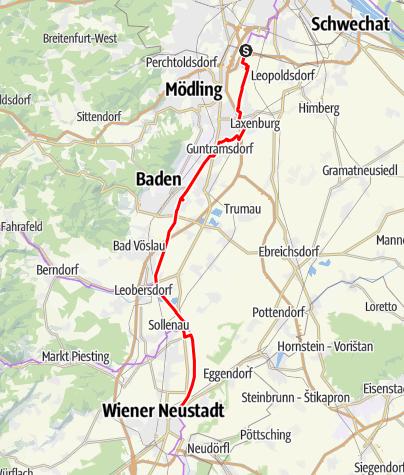 Térkép / EuroVelo 9 - Thermenradweg – Termál kerékpárút a Bécsújhelyi-csatorna mentén