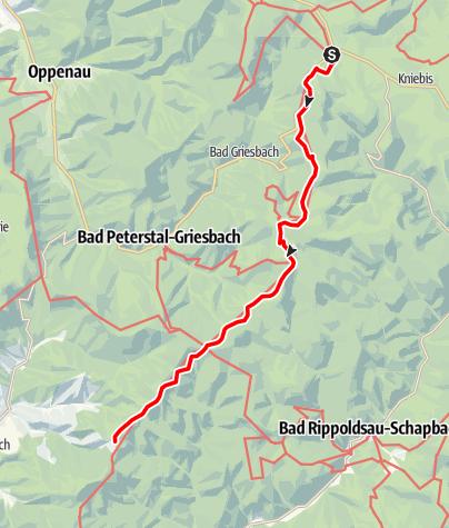 Carte / Westweg: étape 05 (Alexanderschanze - Hark)
