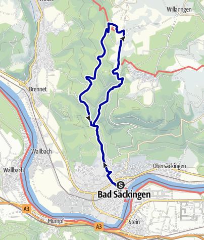 Karte / Bad Säckingen - Zum Solfelsen