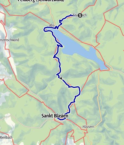 Karte / Hochschwarzwald - Schluchtensteig: Oberfischbach - St. Blasien