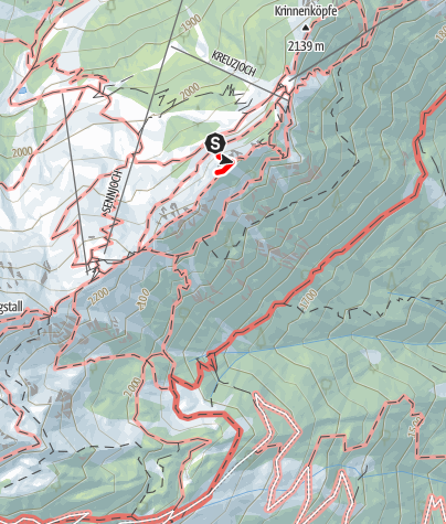 Mapa / Kreuzjoch-Übungsklettersteig