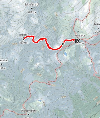 Karte / Innsbruckerhütte - Habicht
