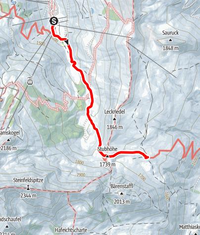 Karte / Tauernkarleiten-Tour