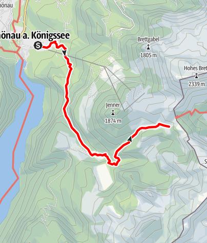 Kaart / Bergtour aufs Schneibsteinhaus