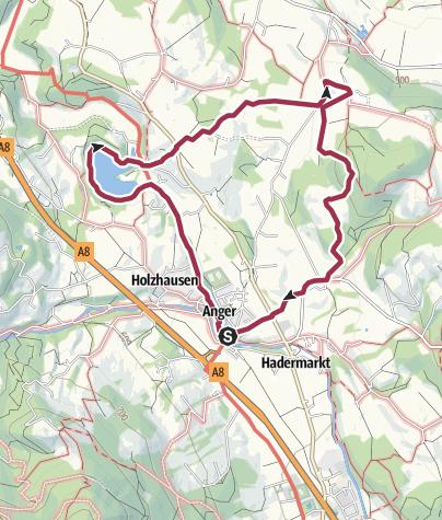 Karte / Höglwörther Rundweg über Steinhögl