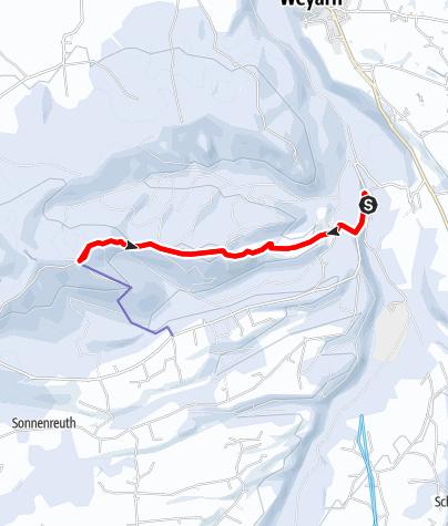 Karte / Winterwanderung vom Mangfalltal auf den Taubenberg