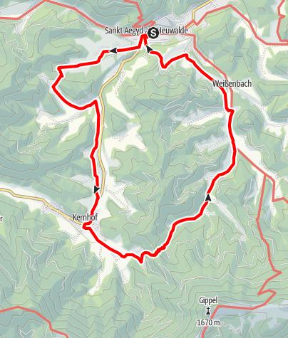 Mapa / Großer St. Aegyder Rundwanderweg