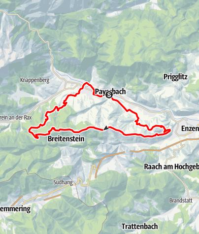 Térkép / Kreuzberg Mountainbikestrecke