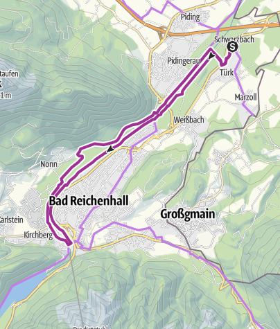 Karte / Saalacherlebnis-Radweg