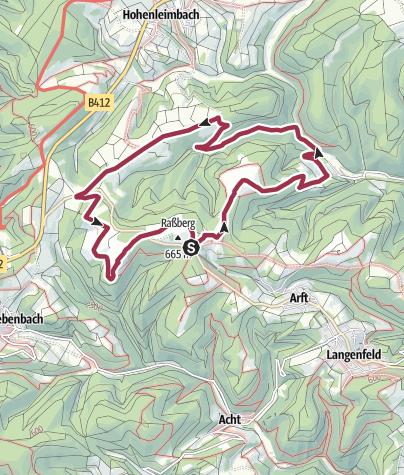 Kaart / Bergheidenweg