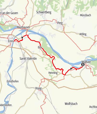 Mapa / Donau-Höhen-Rundwanderweg 452