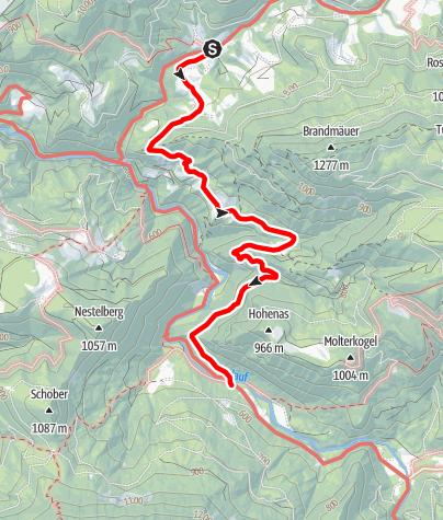Karte / Naturparkeingang Treffling - Gesteinslehrpfad - Trübenbach