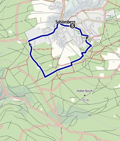 Karte / Heilklimawanderweg Nr. 1 Schömberg