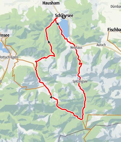 "Karte / Almtour  (Tour Nr. 22a aus dem ""RadlTraum Süd"")"
