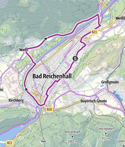 Karte / Stadt-Au-Radrunde