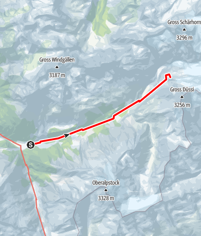 Karte / Bristen-Huefi-Huette