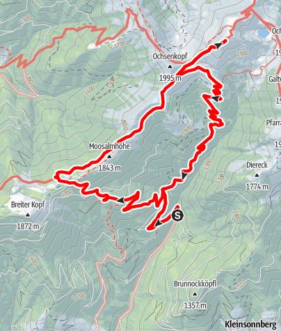 Karte / Von Gries im Pinzgau zum Hundstein, Statzerhaus, Tödlingalm