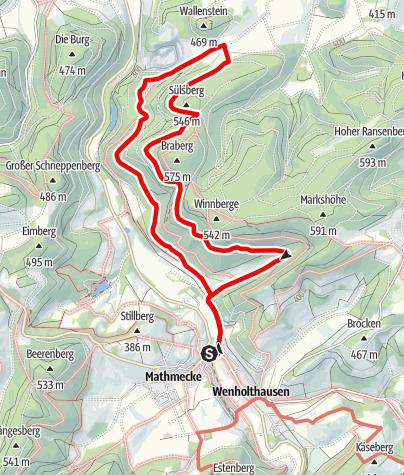 Karte / Rundweg um Wenholthausen (W1)