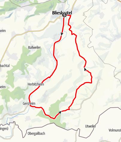 Karte / Rennradrunde 3 Blieskastel-Medelsheim-Kurz
