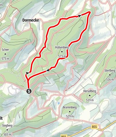 Karte / Rundweg um Obermarpe (O4)